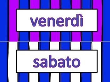Italian I Giorni della Settimana