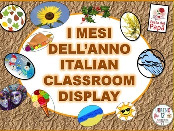 Italian Classroom Display: I Mesi dell' Anno