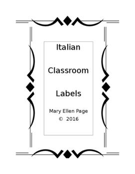 Italian Classroom Labels