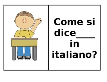 Italian Classroom Posters (Set of 10)