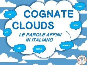Italian Cognate Clouds (Le Parole Affini)