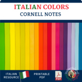 Italian Color Vocabulary Cornell Note Sheet