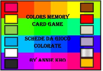 Italian Colors Cards and Worksheets