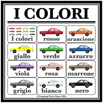 Italian Colors Poster and Printables (PNG and PDF)
