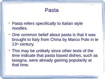 Italian Cultural Lesson: History of Pasta
