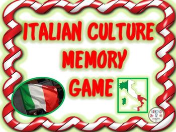 Italian Culture Memory Game