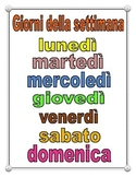 Italian Days of the Week Poster