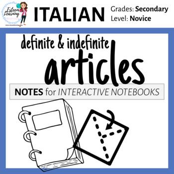 Italian Definite & Indefinite Articles