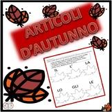 Italian: Definite  and Indefinite Articles Worksheets