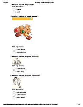 "Italian Made Simple: ""Questo"" Demonstrative Assessment (Multiple Choice)"