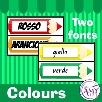 Italian Display Pack - Numbers, Colours & Calendar