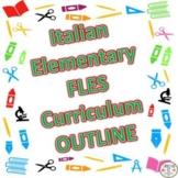 Italian Elementary Curriculum Outline