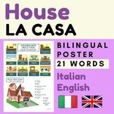HOUSE Italian English Vocabulary   Italiano La Casa
