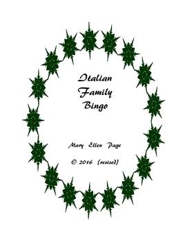 Italian Family Bingo (revised