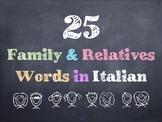Italian Family & Relatives Words PowerPoint