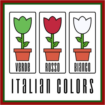 Italian Flower Color Printables (PNG and PDF)