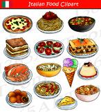Italian Food Clipart Set