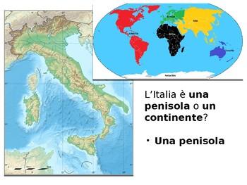 Italian Geography in Italian