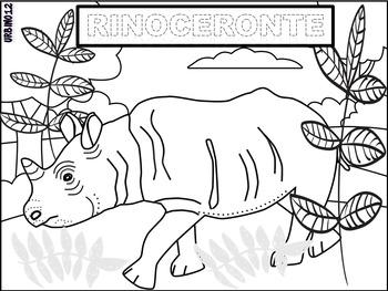 Italian: Gli Animali Selvaggi Coloring