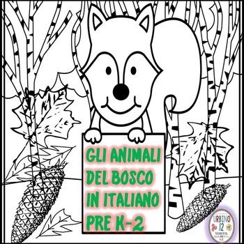 Italian: Gli Animali del Bosco Coloring