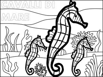 Italian: Gli Animali Marini Coloring
