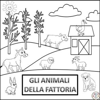 Italian: Gli Animali della Fattoria Coloring