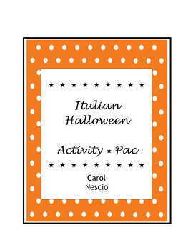 Italian Halloween Activity * Pac