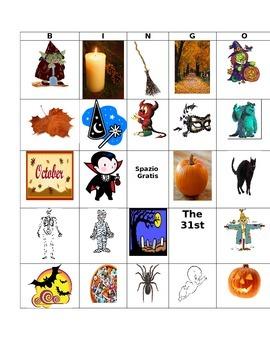 Italian Halloween Bingo