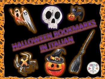 Italian: Spooky Halloween Bookmarks