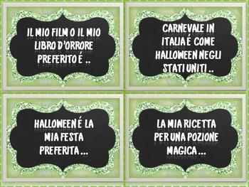 Italian Halloween Writing Prompts