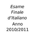Italian I Esame Finale