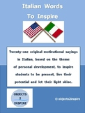 Italian Words To Inspire: motivational sayings in Italian to encourage success