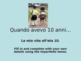 Italian Imperfetto Power Point Activity