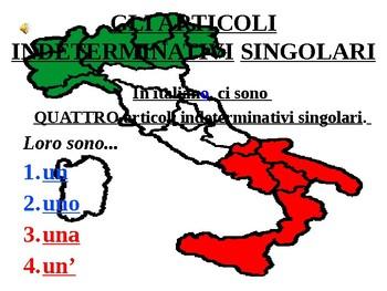 Italian Made Simple: Indefinite Articles (Singular)