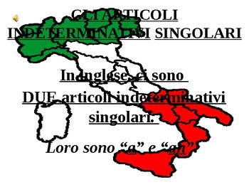 Italian Made Simple: Indefinite Articles (Singular and Plural)