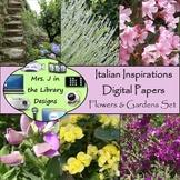 Italian Inspirations Digital Papers: Flowers & Gardens Set