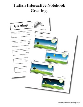 Italian Interactive Notebook - Greetings