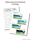 Italian Interactive Notebook - Greetings