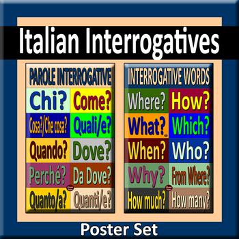 Italian Interrogatives Poster Pair