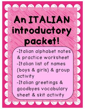 1st Grade Italian Activities Teachers Pay Teachers