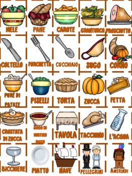 Italian: La Festa del Ringraziamento TOMBOLA