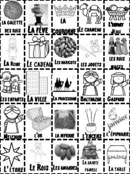 French: La Fête des Rois BINGO