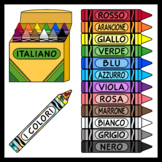 Crayons in Italian / Italian Colors (High Resolution)