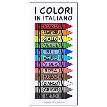 Crayons in Italian / Italian Colors (High Resolution)