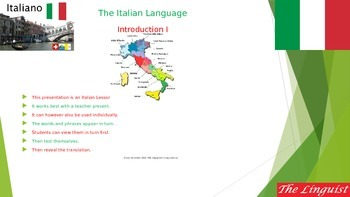 Italian 1 - Novice - Introduction I