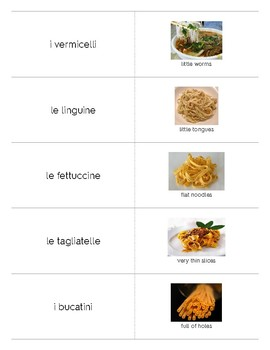 Italian Language Resource Kit: La Pasta