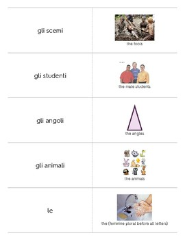 Italian Language Resource Kit: Plural Definite Articles