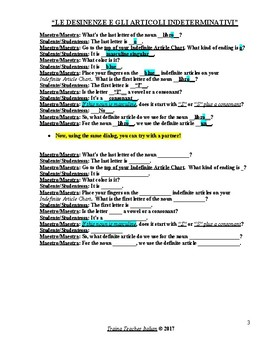 Italian Made Simple: Interactive Chart & Dialog for Choosing Indefinite Article