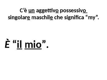 "Italian Made Simple: The Possessive Adjective ""Mio"""