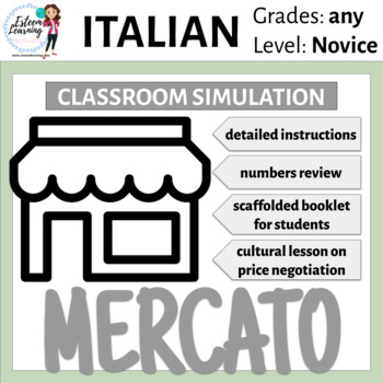 Italian Market Mercato Simulation